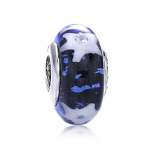 New 925 Silver Blue Ice Flame Star Glass Beads Fit Pandora Bracelet Bangles Charms Original Fashion Women Fine Jewelry A37(China)