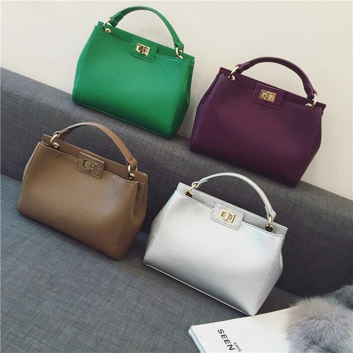 Cecelia 2016 new Women Leather Handbags Litchi ladies messenger bag cat crossbody bag Brand designer tote bag bolsos muj<br><br>Aliexpress