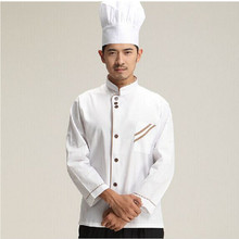 Professional Apron Cleaning Long Sleeve Chef Jacket Uniforms Kitchen Cooking Suit Tops Food Services Clothes For Men Women