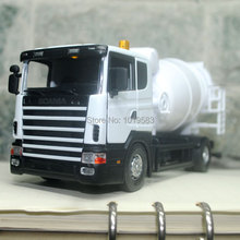 Brand New Very Cool Swden Scania Cement Mixer Truck 1/43 Scale Diecast Metal Car Model Toy For Gift/Children