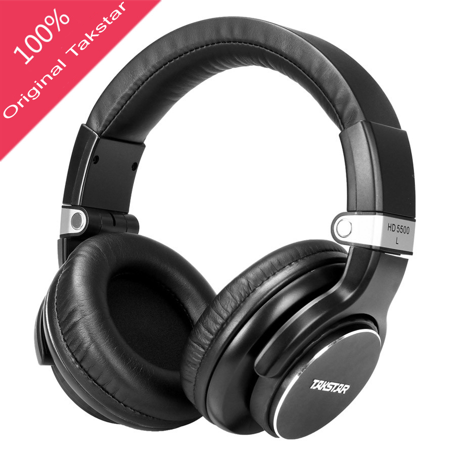 Takstar HD5500 Monitor Studio Headphones Dynamic 1000mW Powerful HD Over headphone Noise Cancelling Pro DJ Headset auriculars<br>