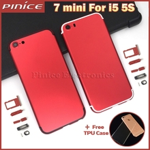 Housing For iPhone 5 5s like i7 Red Color Replacement Back Battery Housing Frame Rear Cover for iPhone 7 mini
