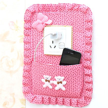 Fabric switch stickers storage bags / phone charging companion key Bag 30*20(China)