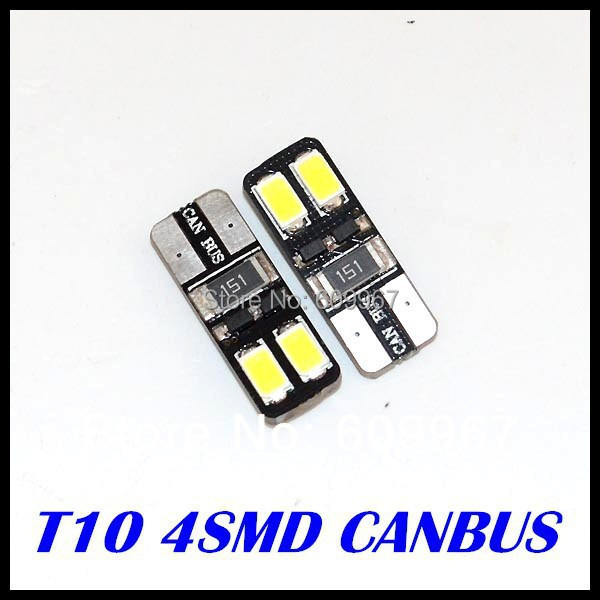 500 x LED White light T10 led W5W canbus Wedge t10 4SMD 5730 5630 led Light bulb CANBUS ERROR FREE Car clearance light<br><br>Aliexpress