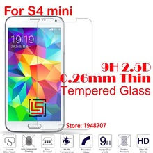 Cheap 2.5D 0.26mm 9H Phone Front Tempered Temper Glass Verre Cristal For Samsung Samsuns Samsug Samsu Galaxy Galaxi S4 mini