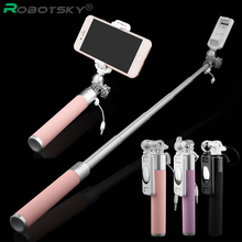 Buy Mini Portable Monopod Selfie Stick Iphone Samsung Android IOS Luxury Handheld Extendable Wired Palo Self Sticks High-Quality for $13.52 in AliExpress store