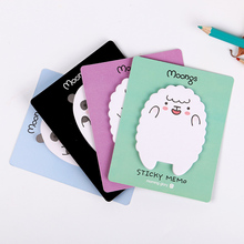 3 PCS Cute Animal Sheep Mini Stickers Korean Stationery Sticky Notes Post Note Kawaii for Diary Things Memo Pad