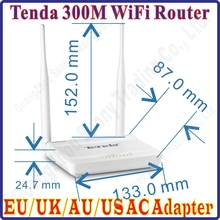 Eng-Firmware Tenda US/EU/UK/AU Plug N630 Easy Install 300Mbps Wireless Router Broadband AP Router Range Extender 4 10/100M Ports(China)