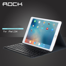 For Apple iPad 2 3 4 ROCK 9.7 inch Bluetooth Keyboard Case(China)