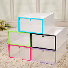 Clear Transparent Drawer Case Plastic Shoe Boxes Storage Organizer Stackable Box