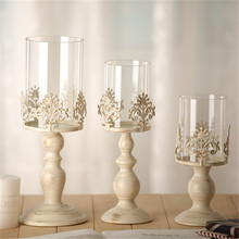 2016 High-grade Classical European Iron Candle Holder Glass Candle Holder Wedding Party Home Decoration Chirsmas Gift For Friend(China)