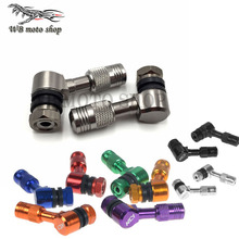 CNC Aluminum Motorcycle 50CC-600CC Metal Gas Nozzle Degree Angle Valve Adaptor Tyre Valve Extension Valve Stem free shipping