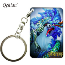 Hot Game SMITE Series Printed Car Keychain or HandBag Ornaments Pendant Keyring Pretty Nice Gift Pictures can be Customized