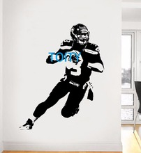 Russell Wilson Wall Sticker American football quarterback Vinyl Decal Sport Poster Boy Room Graphic Mural S M L(China)