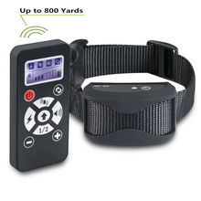 2 In 1 Pet Dog Training Collar Anti Bark Stop Collar 800 Remote Control Waterproof Rechargeable Automatic E Collar(China)