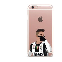 Juventus Soft silicone TPU Football Phone Cases for iPhone 6 6s 5 5s SE 7 7Plus  Paulo Dybala Costa Sport Stars