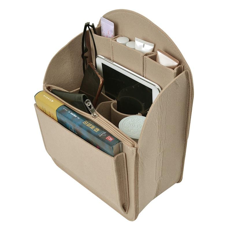 3 Colors Large Bag Backpack Organizer Bag Strong Felt Cloth Insert*