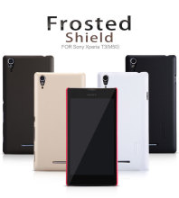 Original Nillkin Frosted Shield Cell phone case for Sony Xperia T3 M50 Plastic Hard Back Cover matte Case Capa +Screen Protector(China)