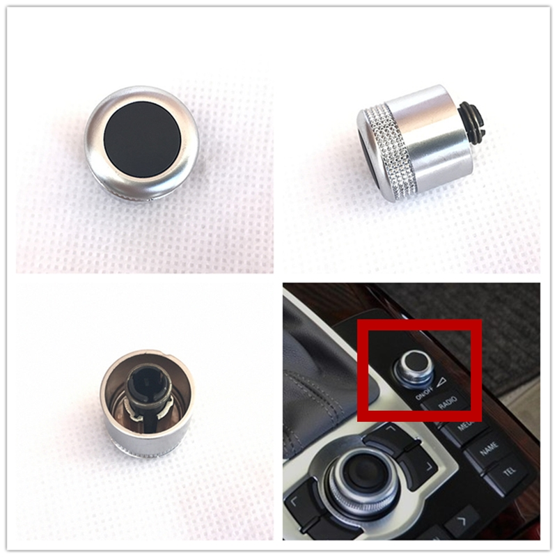 New MMI Multimedia Volume Control Adjust Knob Cap For AUDI A6 S6 C6 A8 S8 Q7 4F0919070 4F0 919 070l(China)