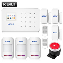Kerui G18 wireless Android iOS App remote control gsm sms alarm system wireless window gap magnetic sensor security smart system