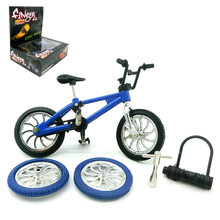 Mini Alloy Finger BMX Bicycle Box Kit Flick Trix Finger Bikes Tool Toys BMX Bicycle Model TechDeck Gadgets Novelty Gag Kid Toys(China)