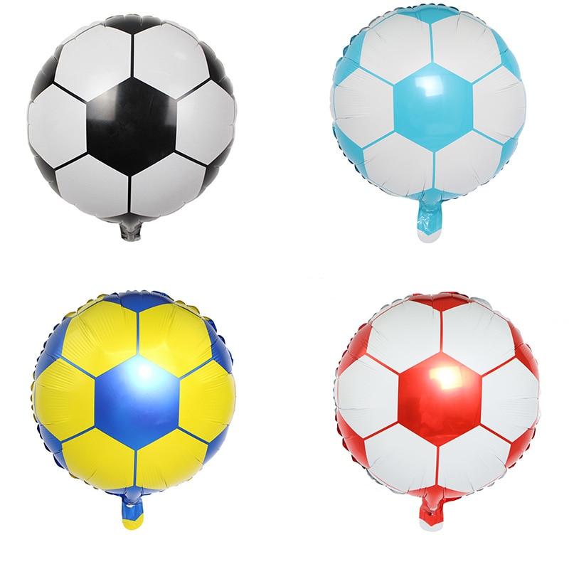 5Pcs 18 inch Football Soccer Aluminum Foil Balloon for Birthday Party Children
