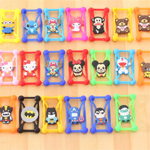 Cute Cartoon Silicone Universal Cell Phone Holster Cases For Fly lQ239 lQ449 lQ4505 lQ4601 lQ452 lQ455 lQ4511 FS451 FS501 FS502