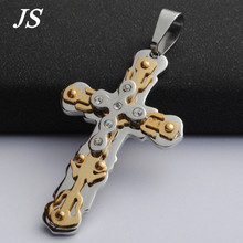 "JS 3.1"" Long Six Crystal Cross Necklace Antique Luminous Designer Crucifix Pendant Valentine Day Gift Boutique Jewelry CN015"