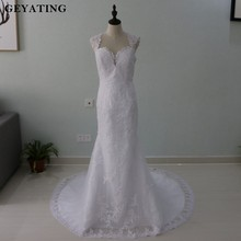 Buy Casamento 2018 Stella York Mermaid Lace Wedding Dress Open Back Long Train Appliques Vintage Bride Dresses Robe de Mariage for $148.80 in AliExpress store