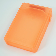 CAA-Hot Sale 3.5 Inch Orange IDE/SATA HDD Hard Disk Drive Protection Storage Box Case