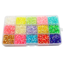 Lucia crafts 4mm 15000pcs Mix Color crystal candy stone resin gems Beautiful decoration and DIY nail art 007001 (12)
