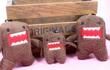 1X Size Bigger 7*5CM DOMO KUN Plush Stuffed TOY , Charm Strap Pendant Lanyard DOLL , BAG Key Chain TOY Wedding Gift Bouquet TOY
