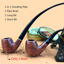 Smoker 2 In 1 Smoking Pipe Rosewood Tobacco Pipe For Smoking Weed With Gift Set Reading Pipe