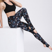 Breathable Fitness Print Sport Legging Yoga Pants Floral Tight Elastic Jogging Gym High Waist Compression Pant Women Hip Push Up(China)