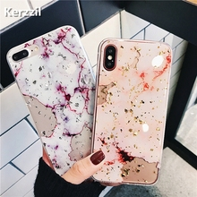 Buy Kerzzil Bling Gold Foil Marble Phone Case iPhone X XS Max XR Cover Hole Soft TPU Cases iPhone 7 8 6 6s Plus Glitter Capa for $1.38 in AliExpress store