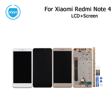 Black Gold White For Xiaomi Redmi Note 4 LCD Display and Touch Screen With Frame Or Not 5.5Inch Tested Xiaomi Redmi Note 4+Tools