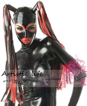 Buy Customized Hood Mask Fetish Latex hood mask heroine hood tress Free Shipping Fast Delivery