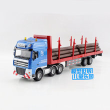 Free Shipping/Diecast Toy Model/1:50 Scale/Timber Transport Truck/Engineering Car/Educational Collection/Gift For Children/Small(China)