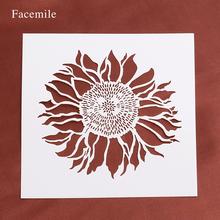 Facemile Sunflowers Stencils For DIY Scrapbooking Photo Album Decorative Embossing DIY Paper Cards 54041