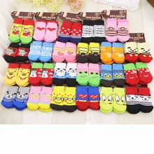 VMIPET 15 Styles 1 Set Dog Socks Pet Anti-slip Knit Socks Dog Supplies Aceyic Indoor Warm Dog Shoes For Puppy DCK0231