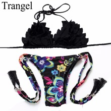 Trangel 2017 bikini brand women sexy swimwear ladies mini bikini set brazilian biquinis swimwear print bathing suits BF762