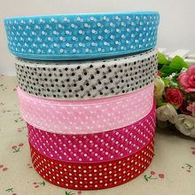 "HL 30yards 1"" mix color organza ribbon print dots gift packing belt wedding Christmas decoration sewing accessories crafts A689(China)"