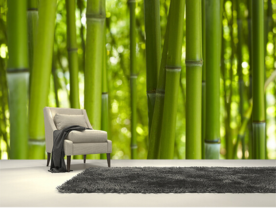 Custom photo wallpaper,Bamboo Trees,3d stereoscopic wallpaper for living room bedroom restaurant wall waterproof PVC wallpaper<br>