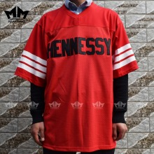 MM MASMIG Prodigy 95 Hennessy Queens Bridge American Football Jersey Red M-3XL