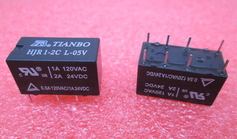 2PCS Original HJR1-2C L-12V HJR1-2CL-12V tianbo relais 8 broches