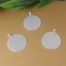Inner:20mm,25mm 50pcs/Bag Round Silver Color Blank Pendant Trays Base Setting Zakka Glass Cabochons