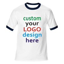Women men team t-shirt tops Quick custom tees Personalized Custom T Shirt Photo & Text or Logo make your own design OEM