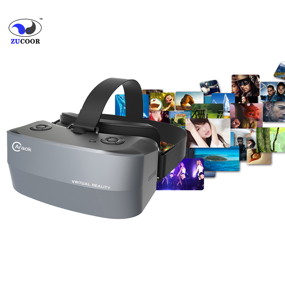 Google Cardboard Virtual Reality 3D Vr Box Glasses V9 All in One Goggles Bluetooth Headset Helmet<br><br>Aliexpress