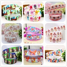 YJHSMY  25mm Pretty Mary Cats printed grosgrain ribbon,Clothing accessories accessories, wedding gift wrap ribbon,MD5206