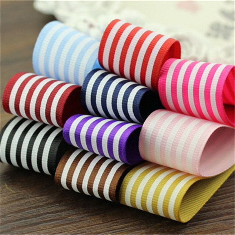 """10 colours 5meter/lot 1""""(25 mm) Bow children hair material 25mm rib belt Computer embroidery anchor decor ribbon T-032"""